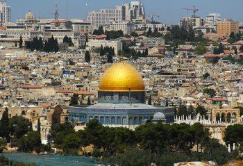 Jerusalem skyline.