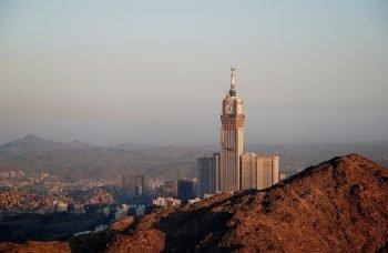 View over Mecca, Saudi Arabia.