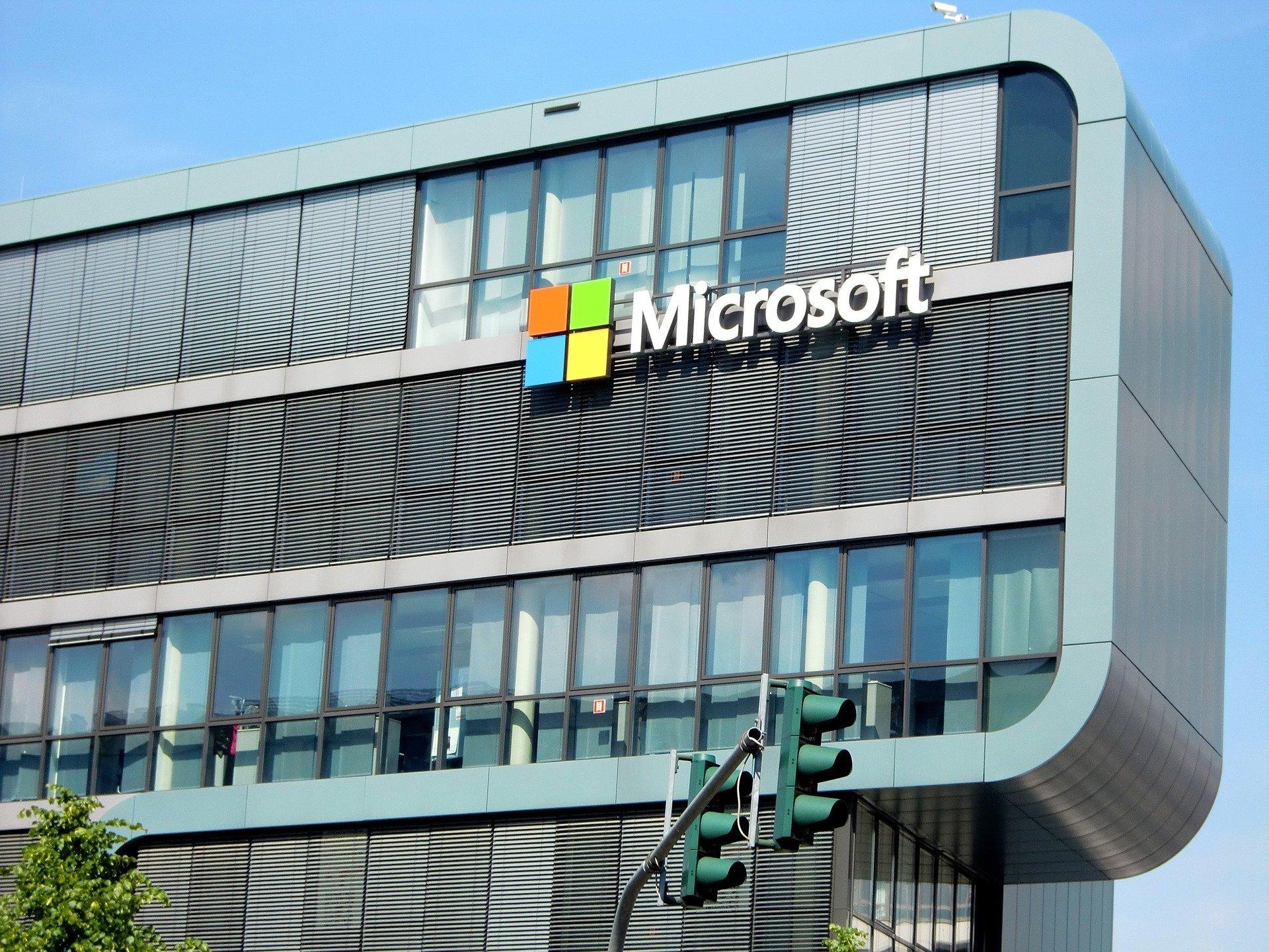 A Microsoft building.